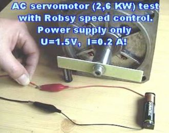 Measuring of the AC servo motor video